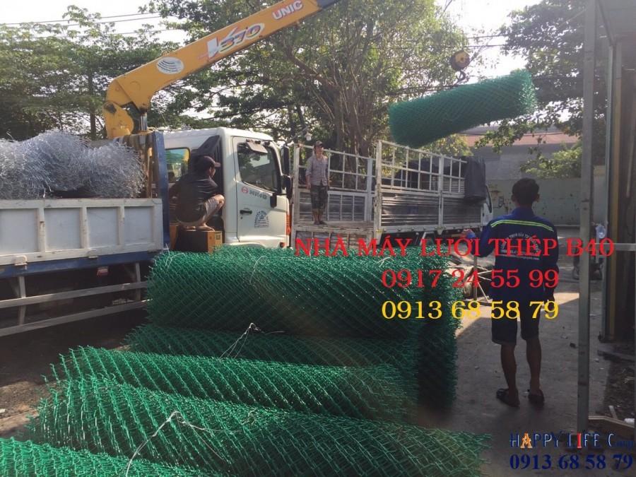 Lưới B40 mạ kẽm, lưới b40 bọc nhựa, dây kẽm gai, rào lưới kẽm gai